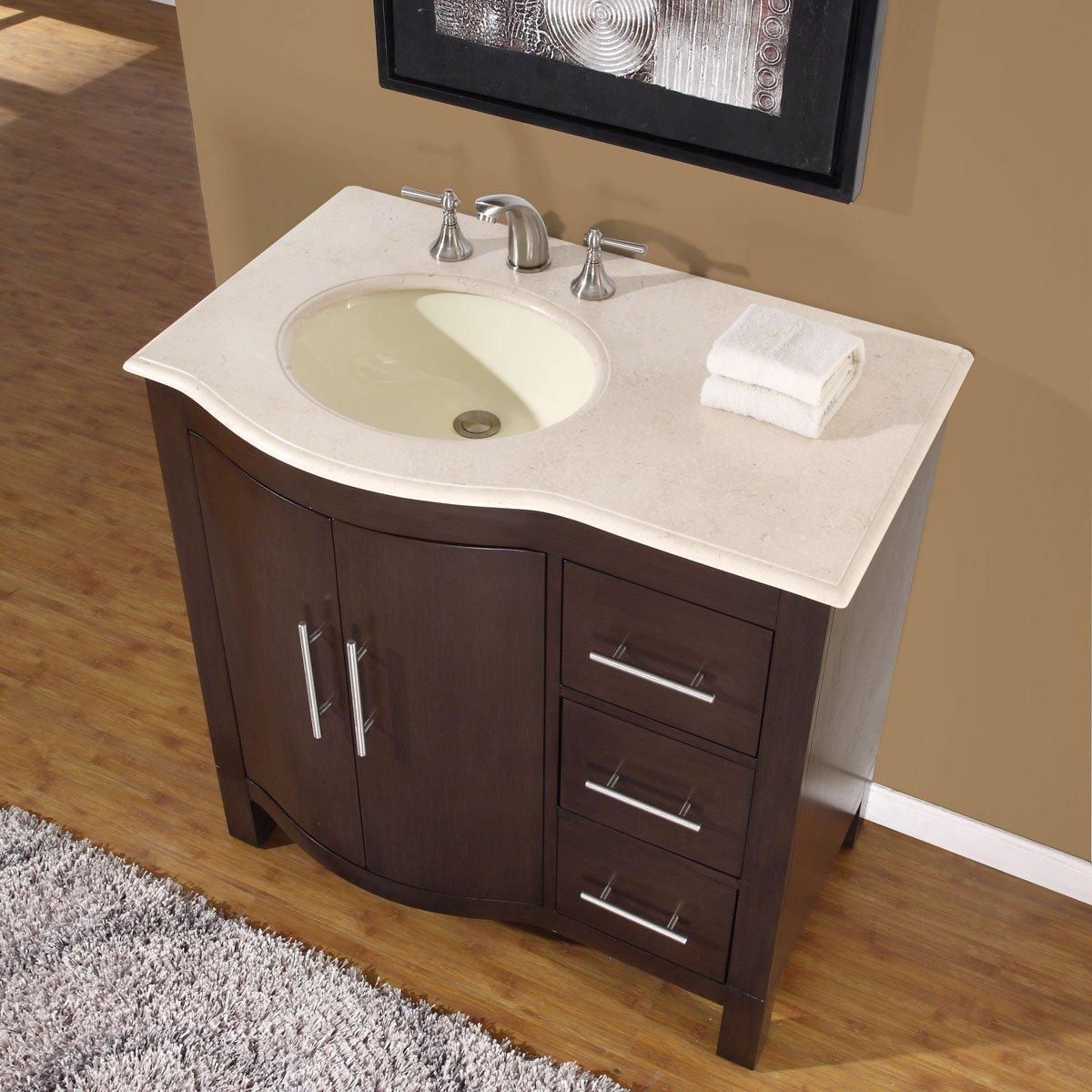 Home/Vanities/Single Vanities. Stufurhome Ariane 36 Inches Slate Gray  Single Vanity Cabinet Single Bathroom Sink