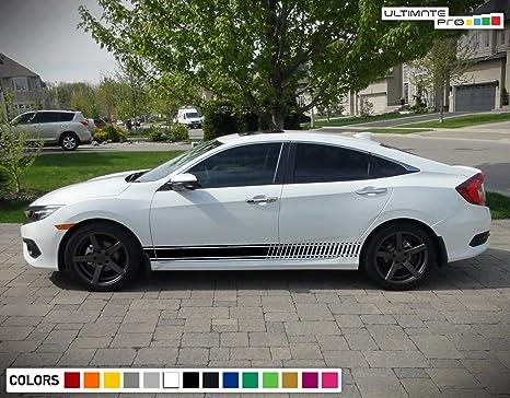 Amazon.com: Bubbles Designs Decal Sticker Vinyl Side Sport Stripe Kit Compatible with Honda Civic 2015-2017 (Black): Automotive