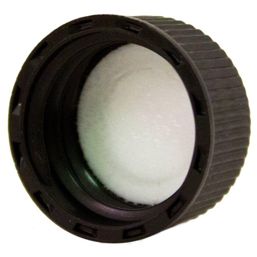 Black Caps, Fits bottle neck size 18/400 (Pack of 24) WFMed