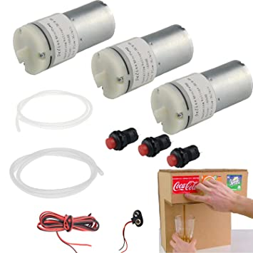 exclude cardboards Delinx DC 6V Air Pump Motor kit for Homemade Drink Fountain Machine