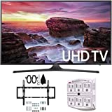 "Samsung UN40MU6290 6-Series Flat 39.9"" LED 4K UHD Smart TV w/ Wall Mount Bundle includes TV, Flat & Tilt Wall Mount Kit Ultimate Bundle, and SurgePro 6 NT 750 Joule 6-Outlet Surge Adapter"