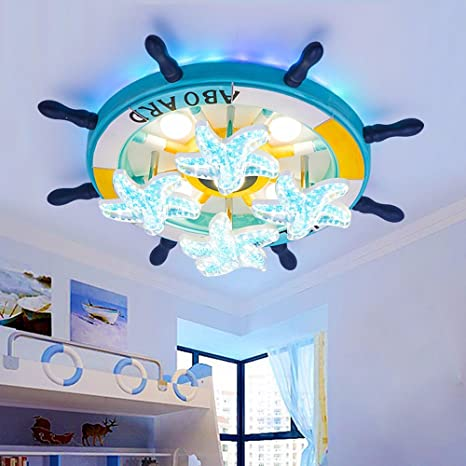Boy Bedroom Ceiling Lamp Mediterranean Star Lamp Creative