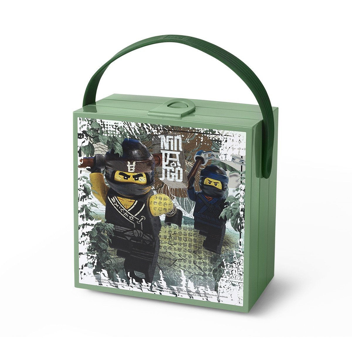 LEGO Ninjago Movie Lunchbox with Handle, Sand Green