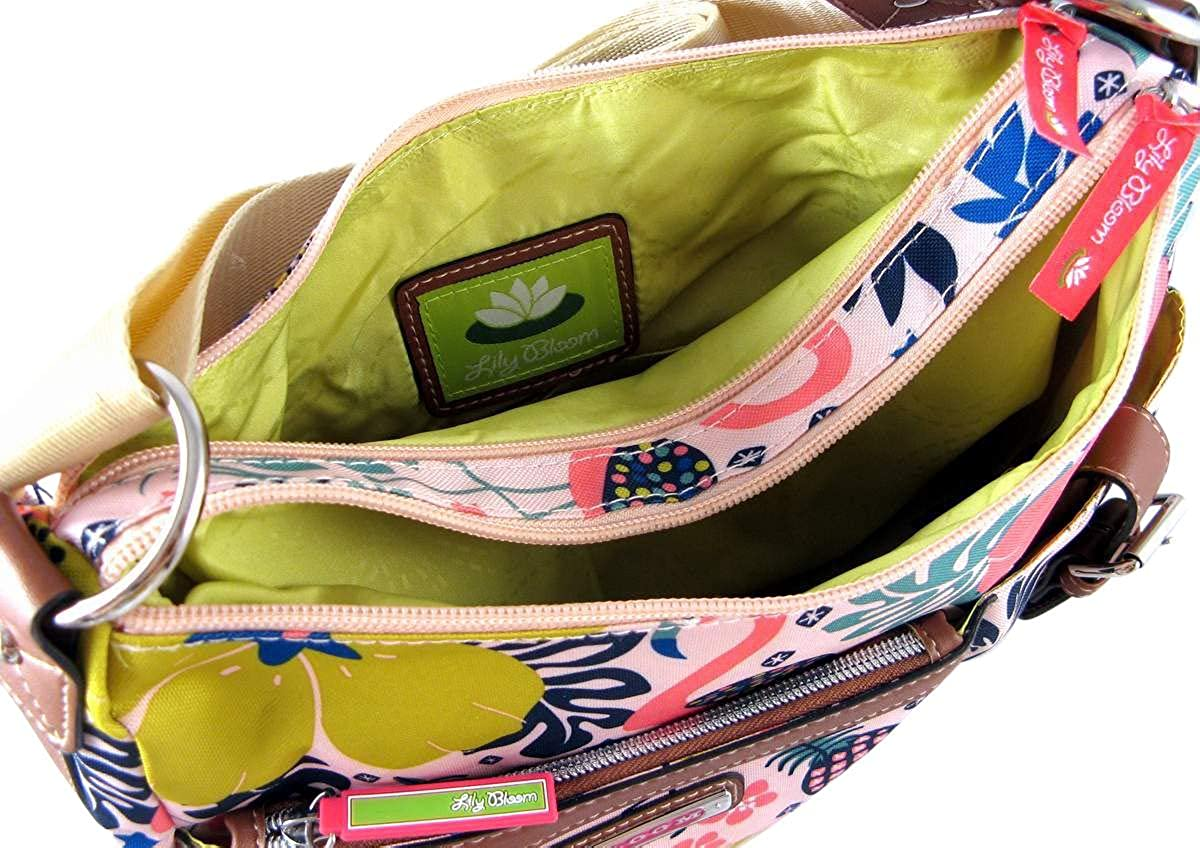 Amazon.com: Lily Bloom Kathyrn Large Convertible Crossbody Hobo, Floral Tribal: Shoes