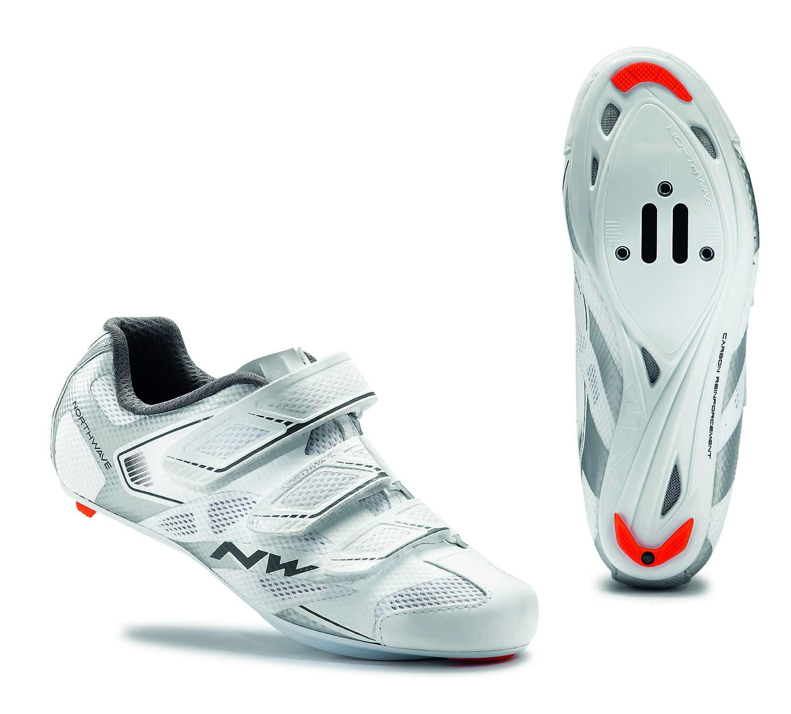 NORTHWAVE Woman road cycling shoes STARLIGHT 2 white/silver (9.5 US)