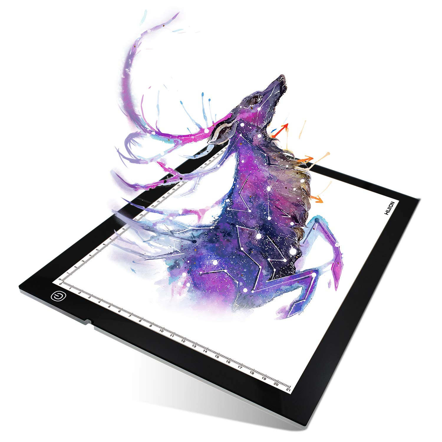 HUION A4 LED lightweight Light Pad Tracing Board super bright Lightning with Adjustable Illumination for Animation