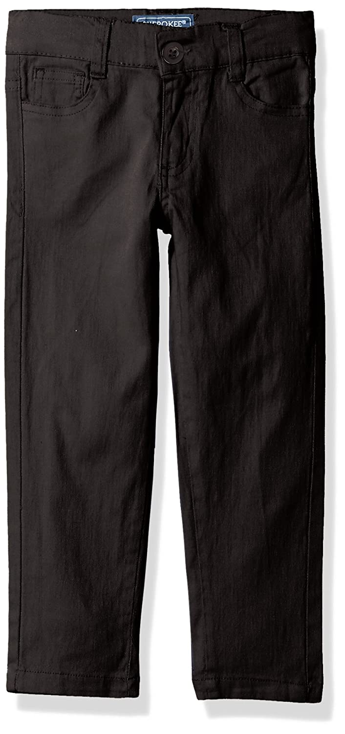 Cherokee Girls' Big Uniform Stretch Twill Skinny Pant -