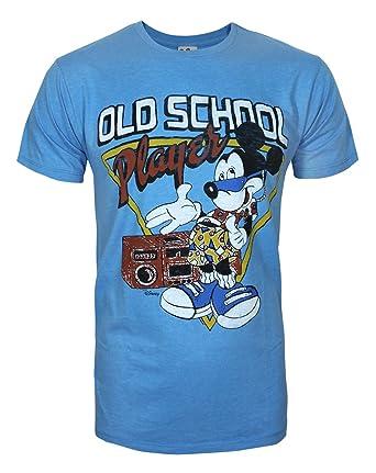 39cd9cbef Amazon.com  Junk Food Mickey Mouse Old School Player Men s T-Shirt ...