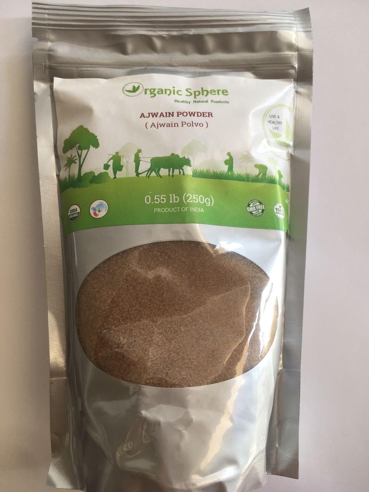 Ajwain Seeds - USDA Certified Organic - EU Organic - Adulteration Free - Sodium Free - 250 Grams - Organic Sphere