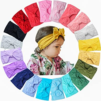 Super Stretchy Knot Nylon Baby Headbands For Newborn Baby Girls Infant Toddlers Kids