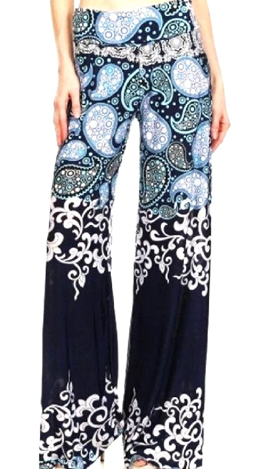 Discount ANDYOU Women's Patterned Empire Waist Charming All-Match Work Pants free shipping