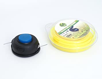 Cabezal de hilo para desbrozadora Husqvarna + 50 m de hilo de corte 3 mm: Amazon.es: Bricolaje y herramientas