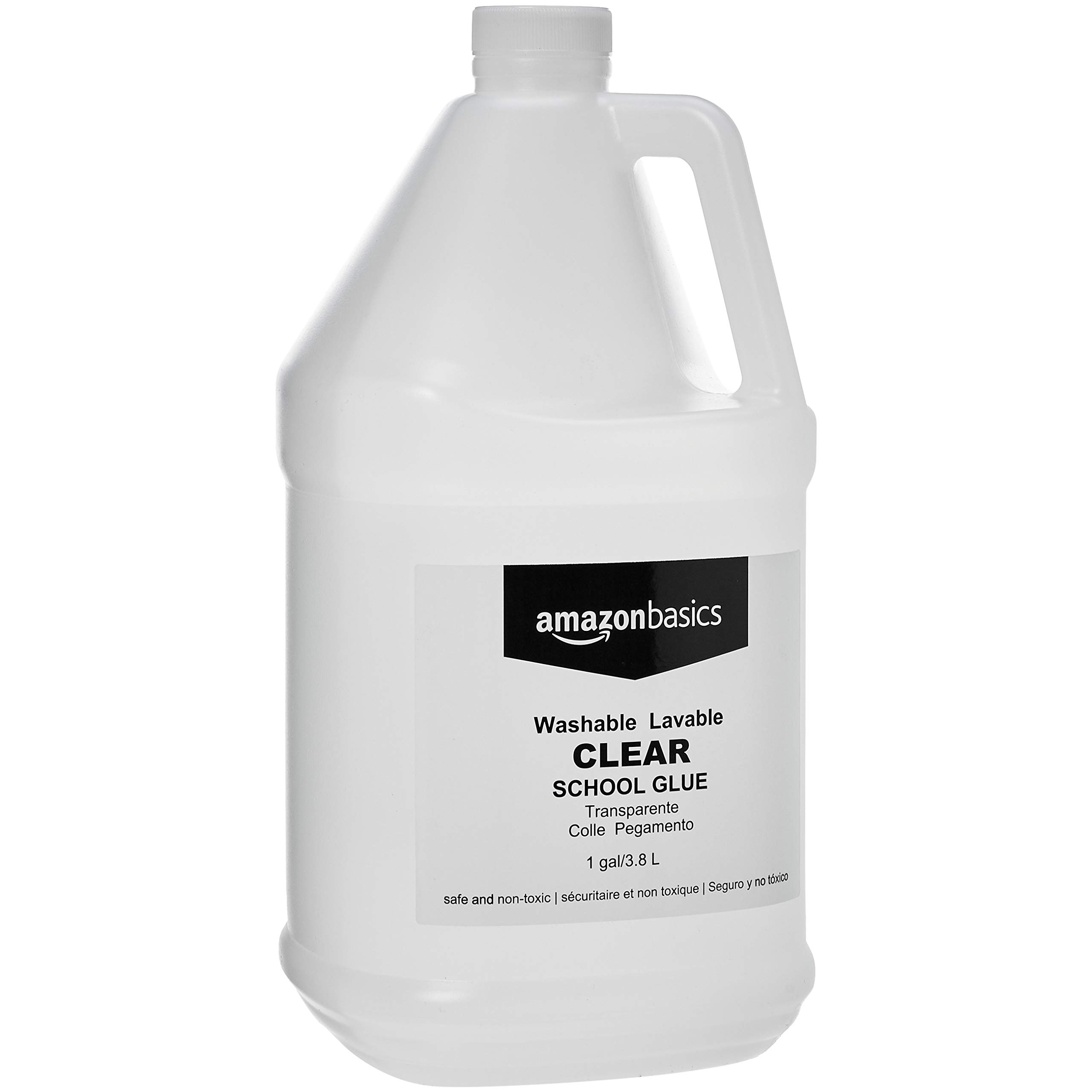 AmazonBasics All Purpose Washable School Clear Liquid Glue - Great for Making Slime, 1 Gallon Bottle, 2-Pack by AmazonBasics
