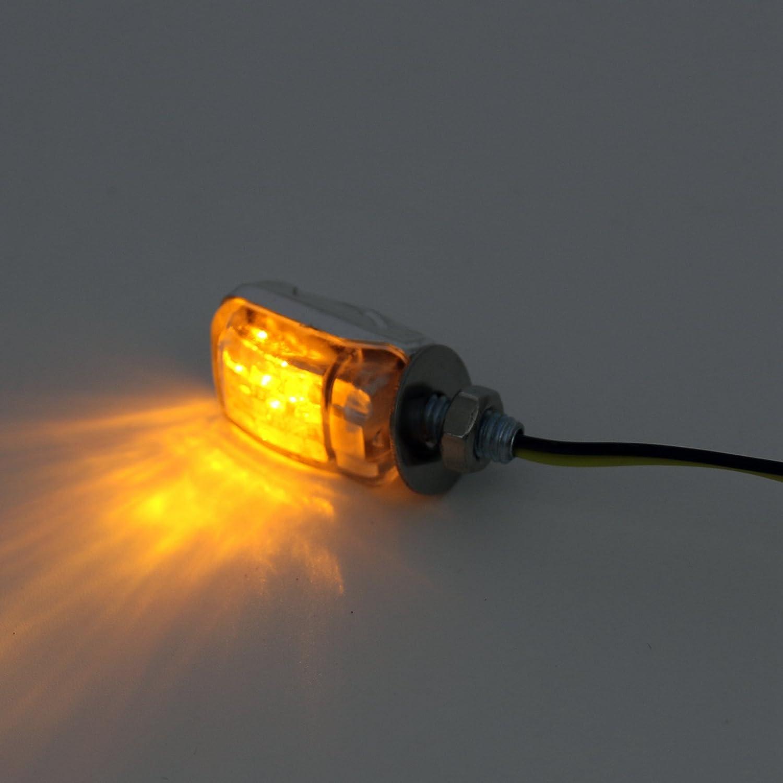 LED Black Micro Mini Tiny Motorcycle Small Indicators Turn Signals MotorBike rty