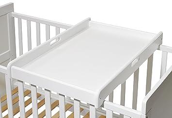 Wickelaufsatz f/ür Betten 140x70 und 120x60 cm Wickeltisch KOKO- Wickelbrett weiss