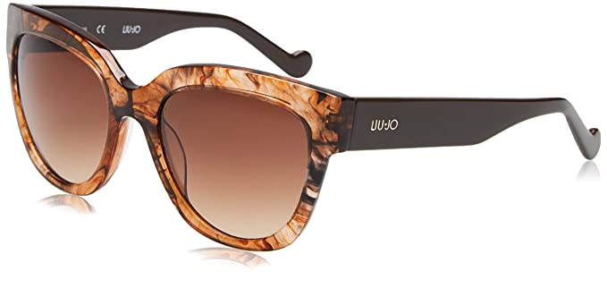Liu Jo LJ650S 265 54 Gafas de sol, Striped Brown, Mujer ...