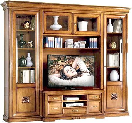 Cucina Sala da Pranzo Mobile con VETRINA Altezza 193 CM Shabby in Legno Sbiancato Moderno per Salotto Milani Home s.r.l.s Soggiorno