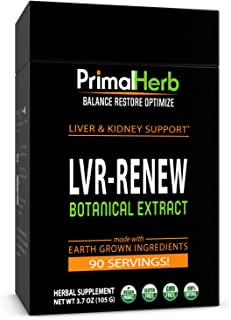 product image for Liver Support Supplement | Cleanse, Detox & Repair | Primal Herb | Turkey Tail, Milk Thistle, Poria, Dandelion Root, Schisandra, Reishi Spores | Herbal Extract - 90 Servings - Plus Bamboo Spoon