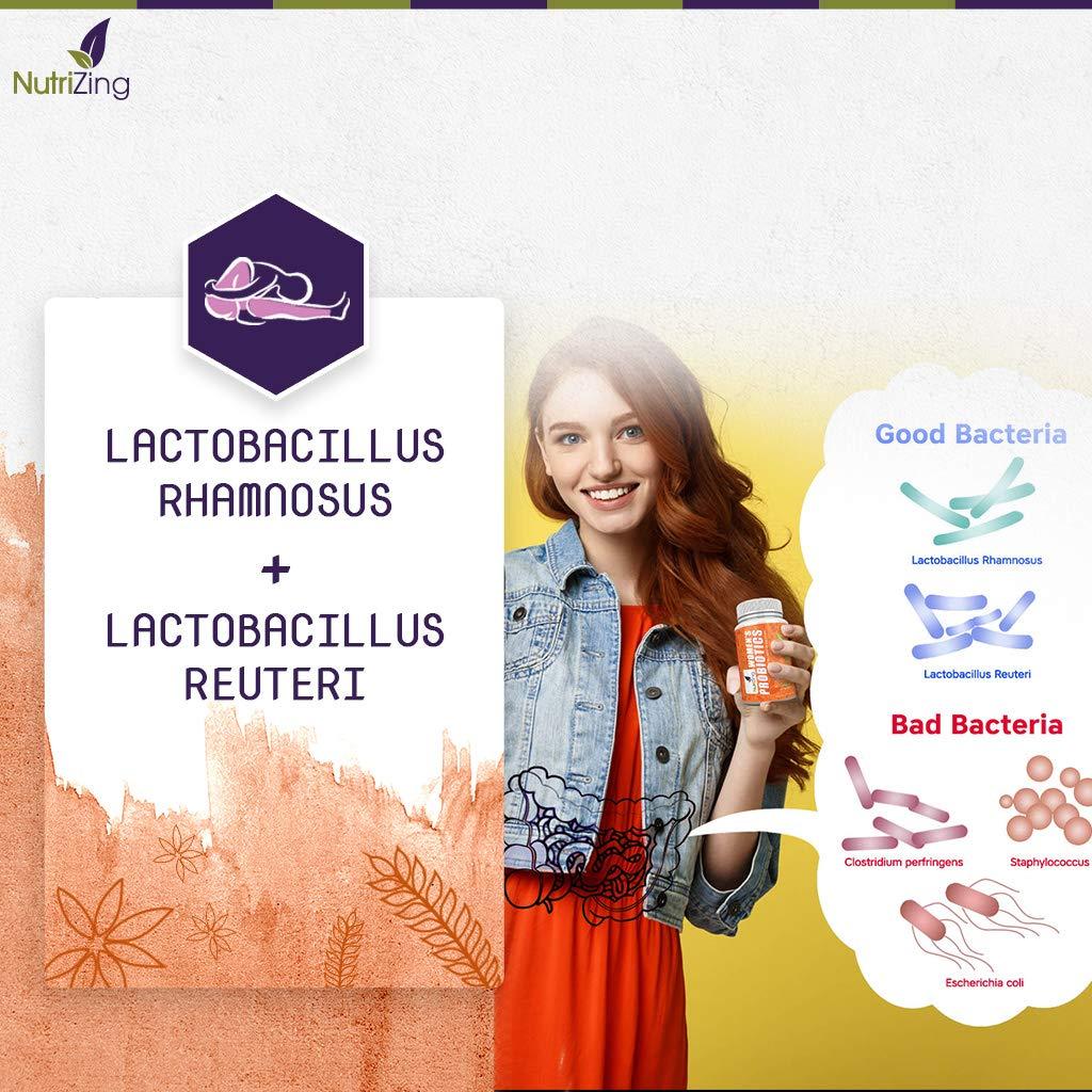 Suplemento Bio-cultures Para Mujeres NutriZing ~ Fórmula Especial Para la Salud Femenina ~ 2,5 Mil Millones de UFC por Cápsula ~ Bacterias amigables: ...