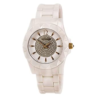 amazon com wittnauer wn4014 ceramic white crystal pave setting dial rh amazon com Wittnauer Men's Watches Discontinued Vintage Wittnauer Ladies Watches