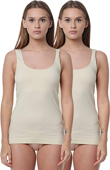 Yenita® 2 Pack Camiseta Mujer Interior de Microfibra: Amazon.es ...