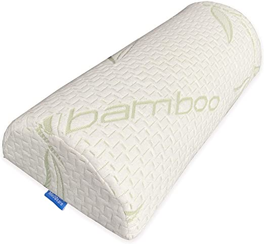 Wedge Pillow Memory Foam Half-Moon Bolster Ultimate Support Side /& Back Sleepers