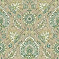 York Wallcoverings WC7575 Waverly Classics II Clifton Hall Removable Wallpaper, Browns