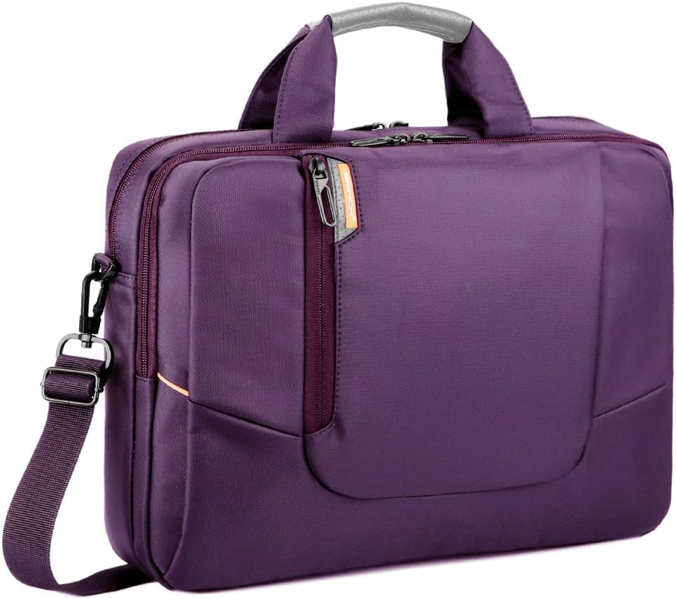 BRINCH Nylon Waterproof Laptop Case with Side Pockets for Macbook Pro Retina 15 inch Mini Asus/DELL/HP/Samsung ,15.6-Inch, Purple