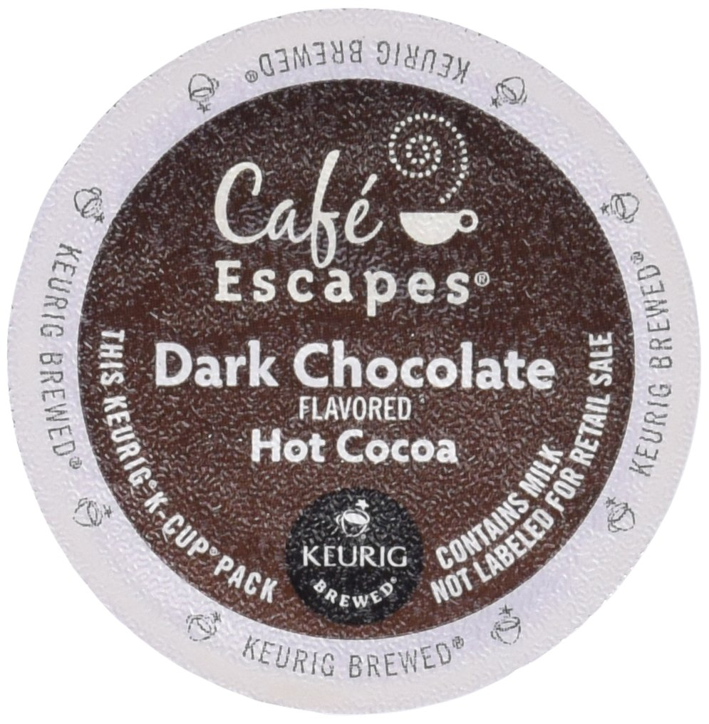 Cafe Escapes Dark Chocolate Hot Cocoa 48 K Cups