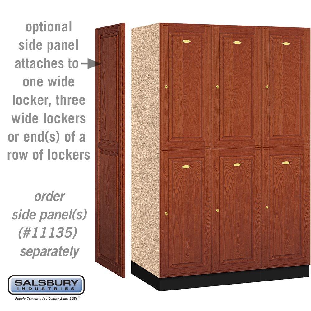 Salsbury Industries 2-Tier Solid Oak Executive Wood Locker with Three Wide Storage Units, 6-Feet High by 21-Inch Deep, Medium Oak by Salsbury Industries (Image #3)