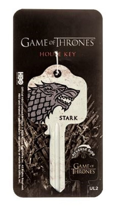 Game Of Thrones GOT House of Stark, Lannister or Targaryen House Key Blank UL2 - Will fit 99% of Doors (House of Lannister)