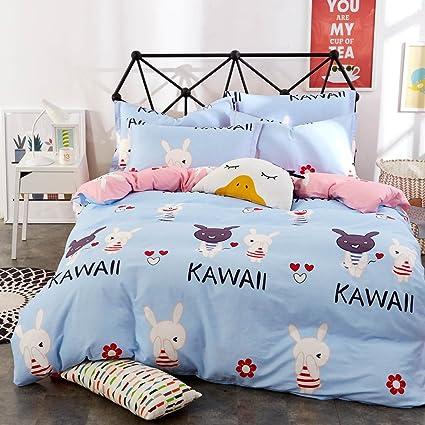 Amazon.com  Home Secret 4PC Bedding Sets Kawaii Rabbit 100% Cotton ... fa3b01e0b