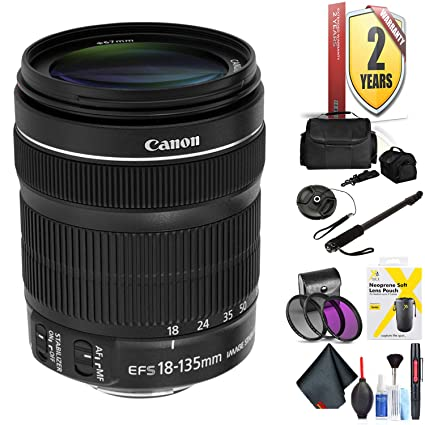 Amazon com : Canon EF-S 18-135mm F/3 5-5 6 is STM Lens for