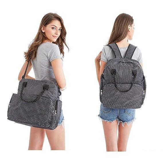 Electomania Waterproof Diaper Bag Travel Bag Multifunctional Mother Bag Baby Bag (Black)