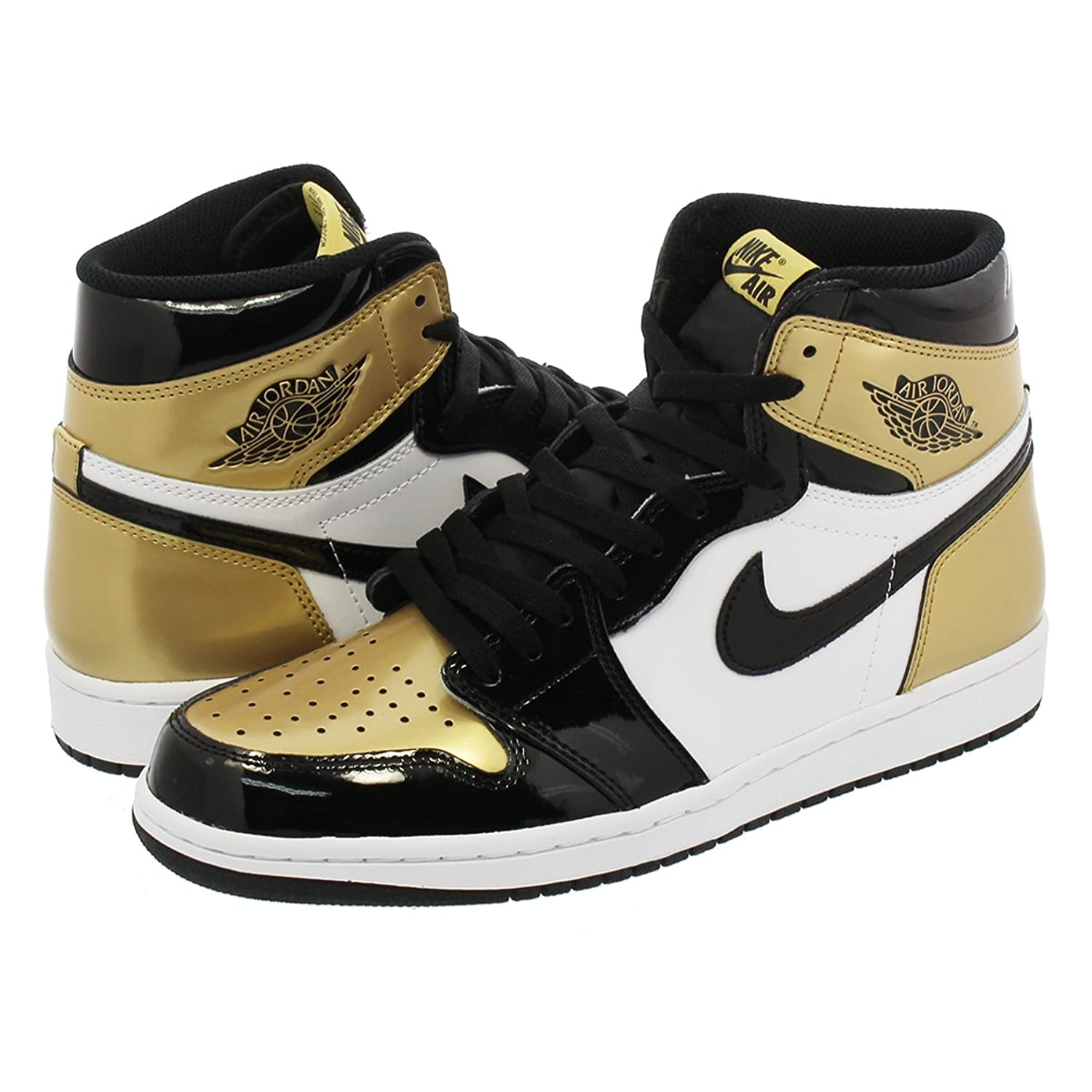 [ナイキ] NIKE AIR JORDAN 1 RETRO HIGH OG NRG BLACK/WHITE/METALLIC GOLD 【GOLD TOE】【25.0cm~28.5cm】 [並行輸入品] B07CBJ8LLR