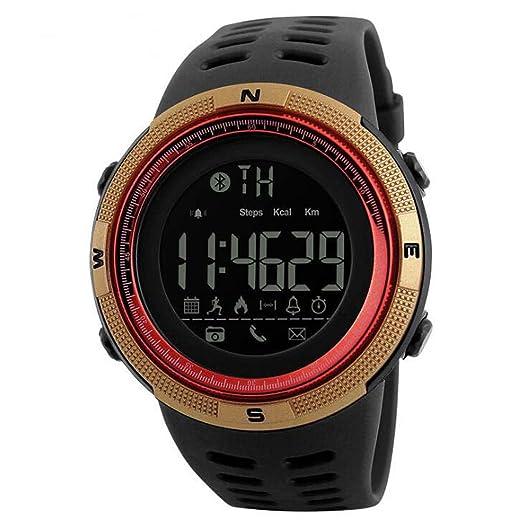 Moda Bluetooth Inteligente Contador de Pasos Reloj recordatorio Soporte iOS Android Photo Deportes Reloj electrónico Android