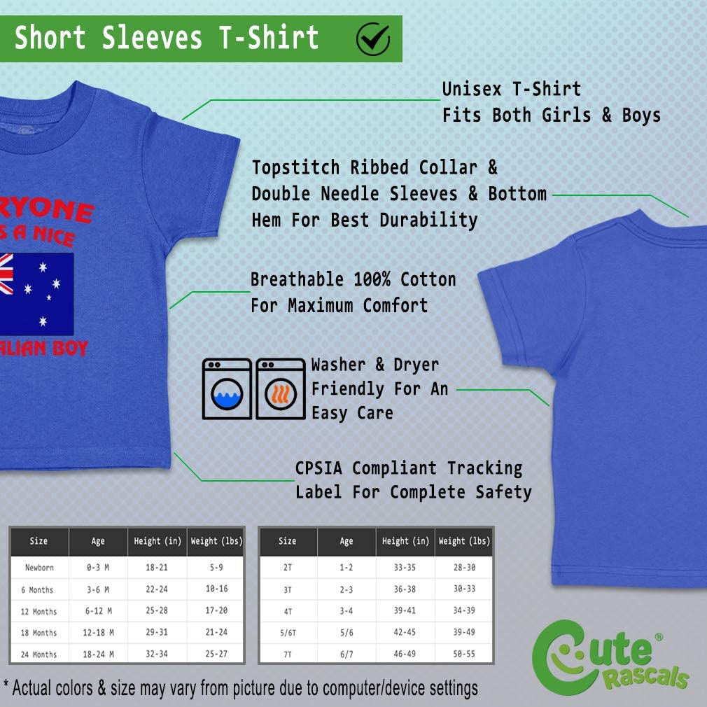 Custom Baby /& Toddler T-Shirt Everyone Loves Nice Australian Boy Cotton