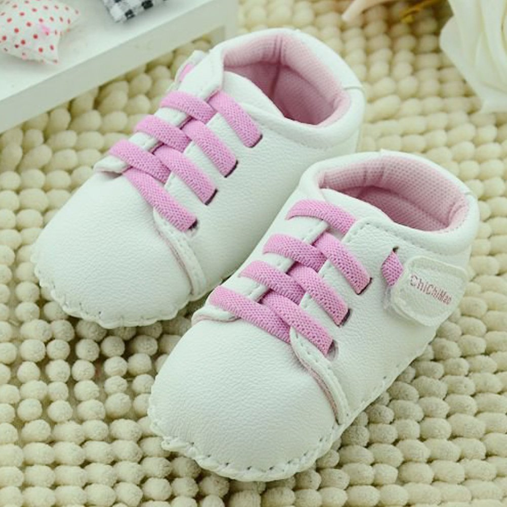 Easydeal Baby Toddler Sewing Vamp Soft Sole Non Slip Crib Shoes First Walker PU Leather