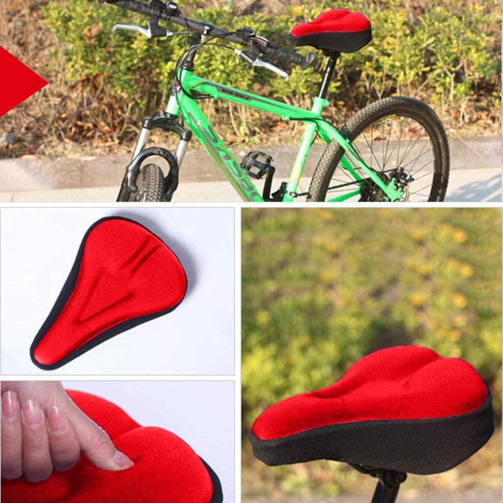 Leisun 3D Silicone Gel Bike Seat Cover Saddle Bike Seat Cover Padded Road//City Bike Cycling Moutain Bike Saddle Comfy Soft Cushion for MTB Cycling