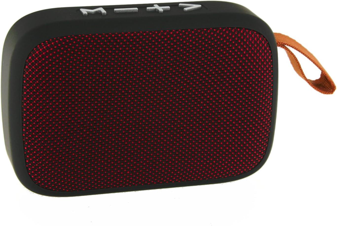 Daewoo DBT-301 R Altavoz Bluetooth Tela - Color Rojo, Pequeno