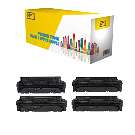 NYT Compatible NO CHIP Toner Cartridge Replacement for HP W2020A W2021A W2022A W2023A (HP 414A) for HP Color Laserjet Pro MFP M479fdw, M479fdn, ...