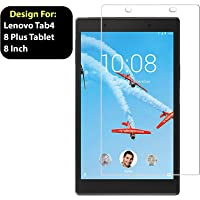 Taslar Tempered Glass Screen Scratch Guard Protector for Lenovo Tab4 8 Plus Tablet 8 Inch TB-8704X,(Clear)
