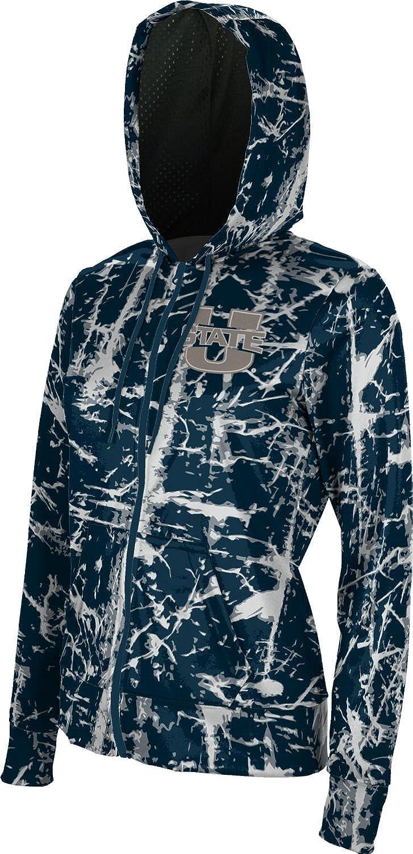 School Spirit Sweatshirt Distressed ProSphere Utah State University Girls Zipper Hoodie