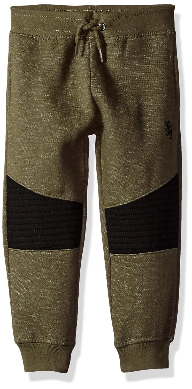 English Laundry Boys Toddler Quilted Knee Fleece Jogger Artillry Green 4T