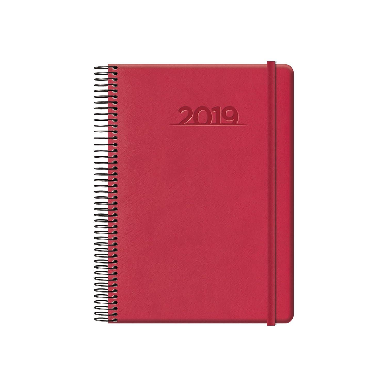 Dohe 12552 - Agenda cabana día página, color rojo: Amazon.es ...