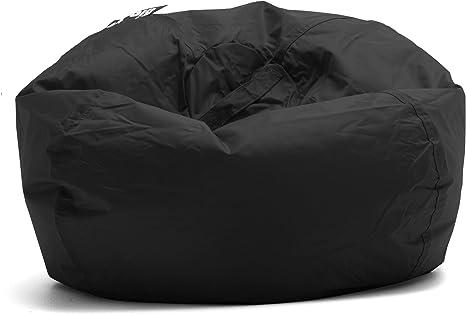 Amazon Com Big Joe Classic Bean Bag Chair 33 L X 33 W X 20 H Stretch Limo Black Furniture Decor