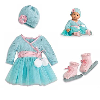 6dbce5a79f0 Amazon.com  American Girl Bitty Baby Frosty Ice Skating Set for 15 ...