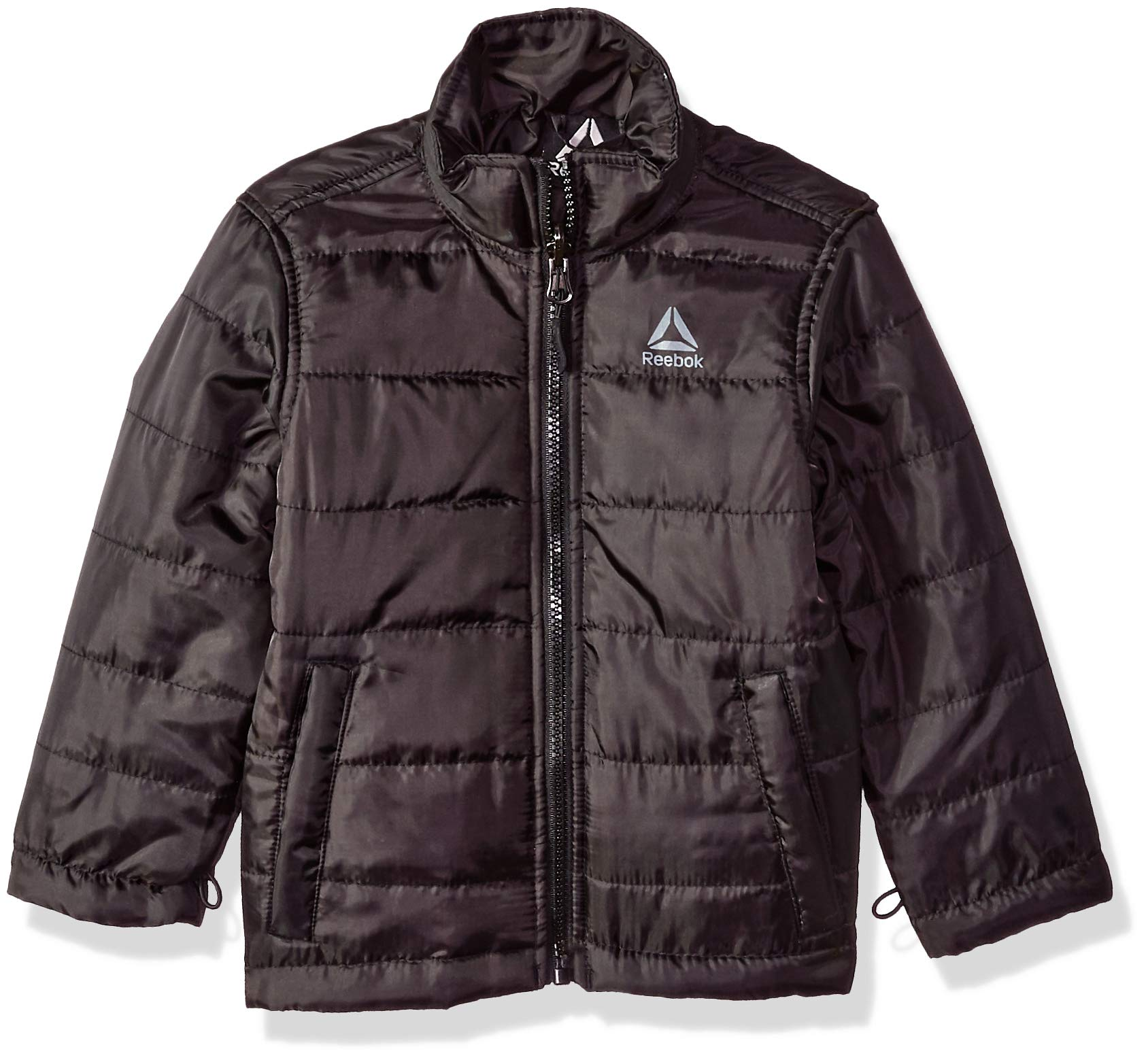 Reebok Boys' Big Active Pockey Systems Jacket, Charcoal, 8 by Reebok (Image #3)
