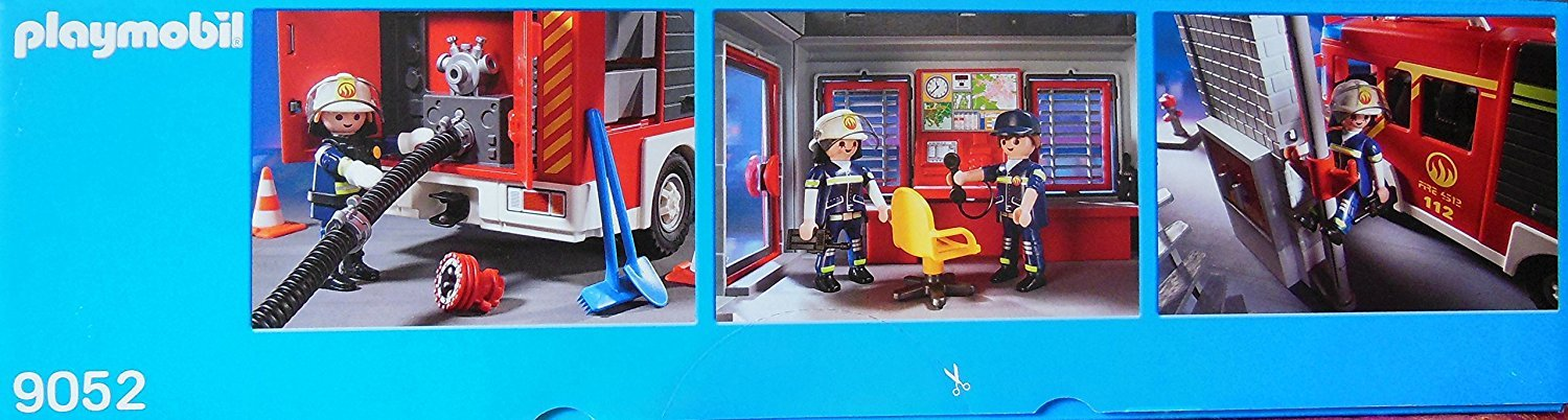 Mega Fire Rescue Set Fire Engine with Lights and Sound Playmobil 9052 Fire Rescue Station