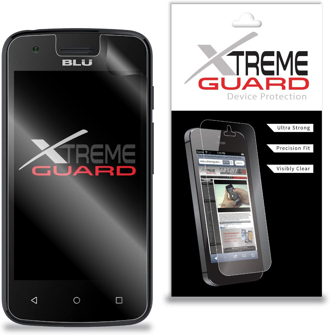 Premium XtremeGuard Screen Protector Cover for Blu Dash L2 (Ultra Clear)